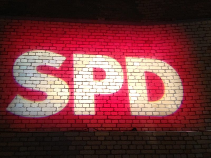 Projektion SPD-Logo