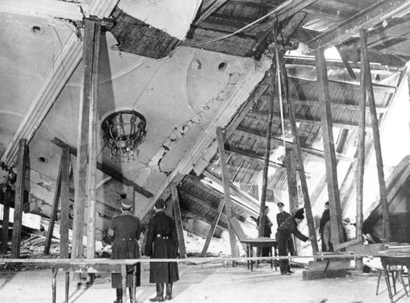 München, Bürgerbräukeller nach dem gescheiterten Attentat auf Hitler