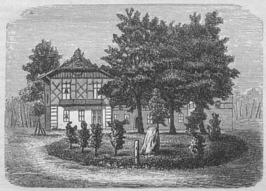Jagdschloß Dreilinden um 1880