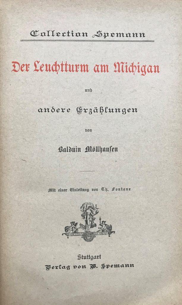 Balduin Möllhausen: Der Leuchturm am Michigan