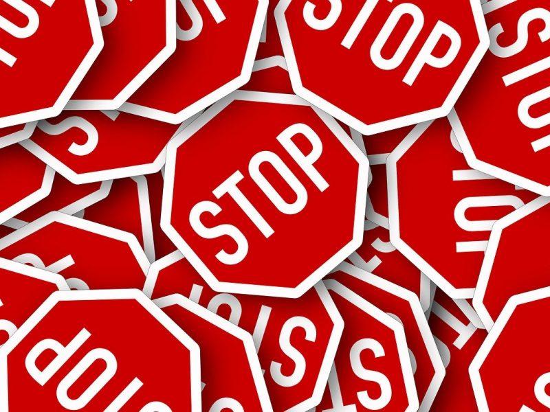 Stop-Schilder