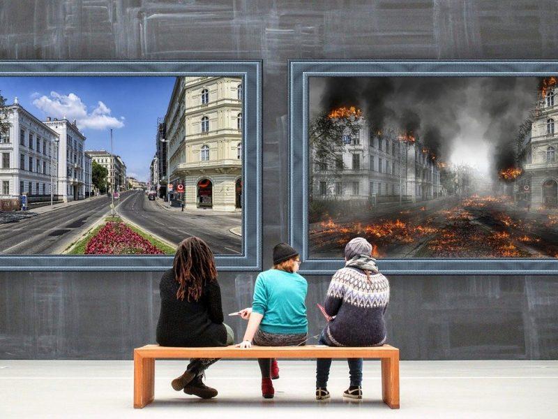 Krieg oder Frieden - Symbolbild