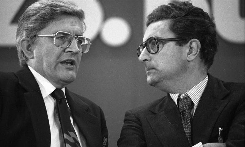 Burkhard Hirsch und Gerhart Rudolf Baum