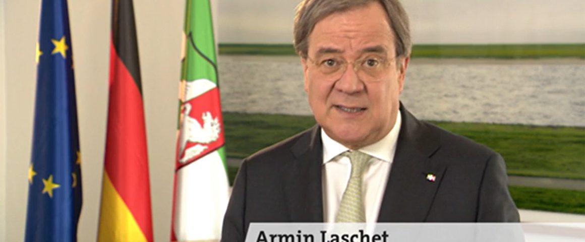 Screenshot, WDR Fernsehen, Osteransprache MP Armin Laschet