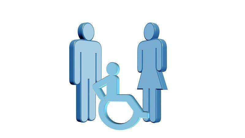Familie mit behindertem Kind