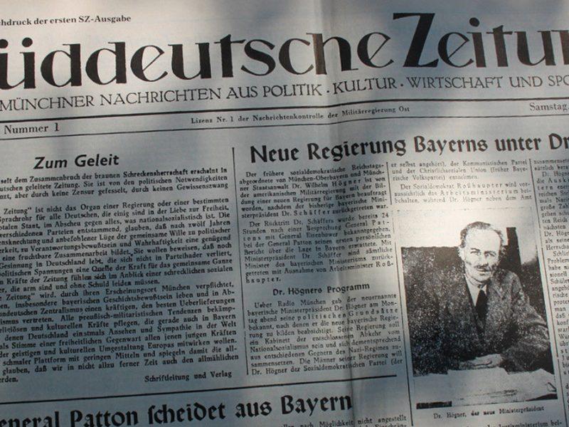 Süddeutsche Zeitung Ausgabe 1 1945