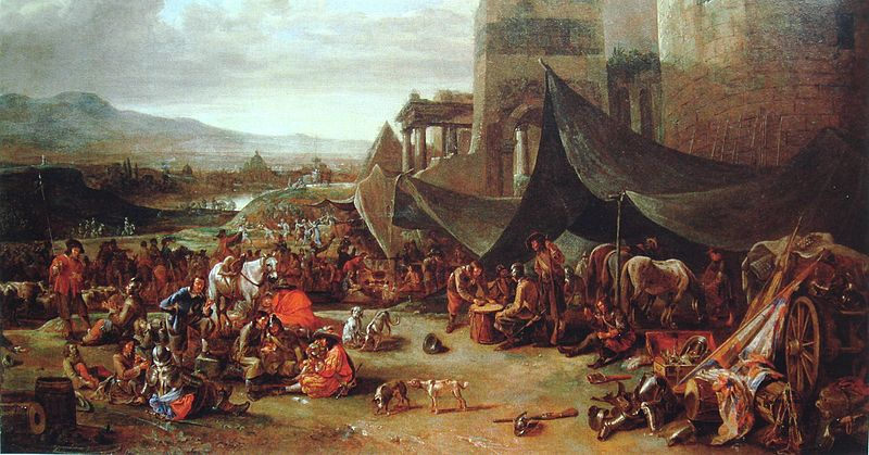 Gemälde Sacco di Roma von Johannes Lingelbach