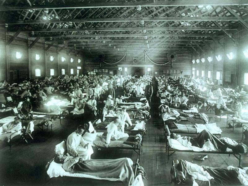 Hospital 1918 zur eit der Spanischen Grippe