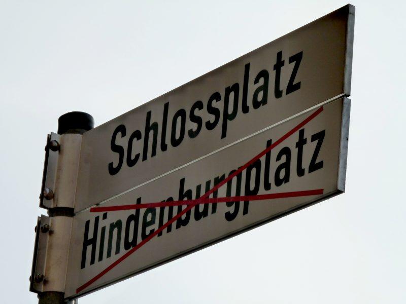 Straßenschild - Straßenumbenennung