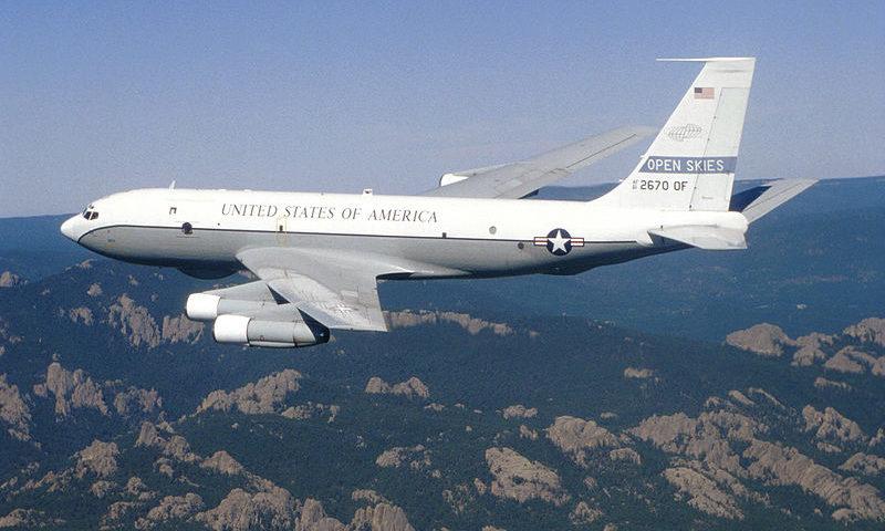 Open Skies Flugzeug der USA