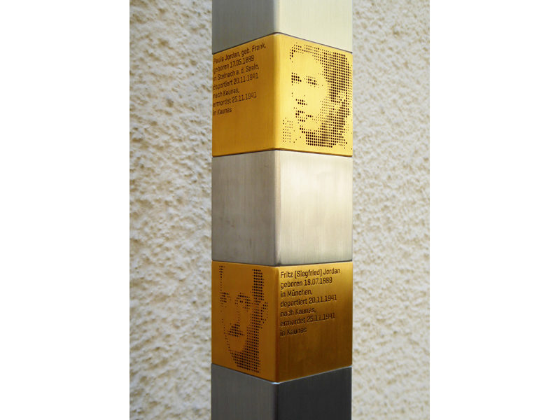 Erinnerungszeichen für Siegfried und Paula Jordan