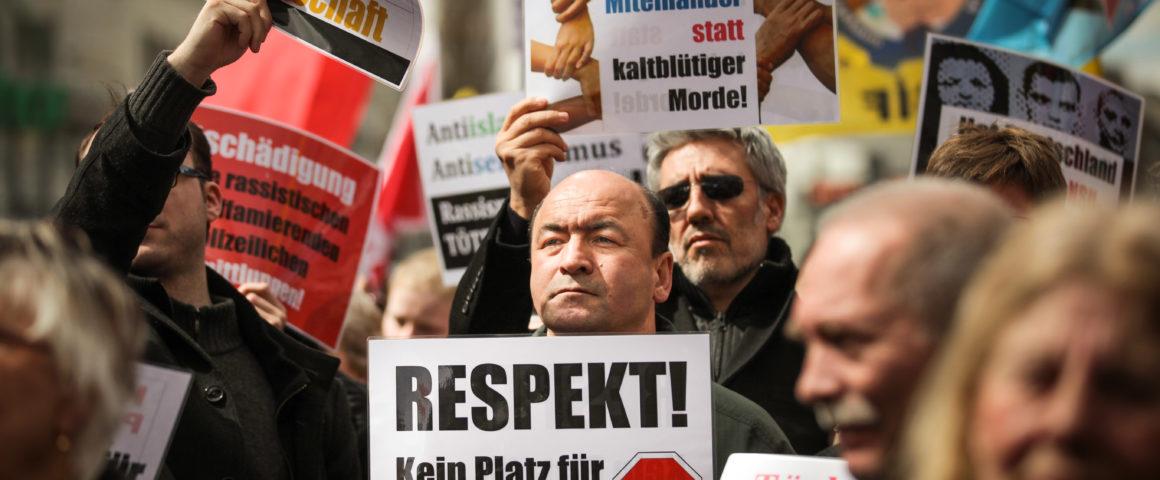 Demonstration gegen Rechtsextremismus