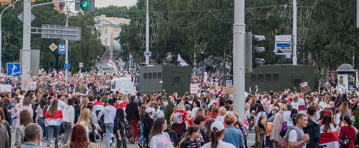 Protest gegen das Lukaschenko-Regime in Insk am 29. August 2020