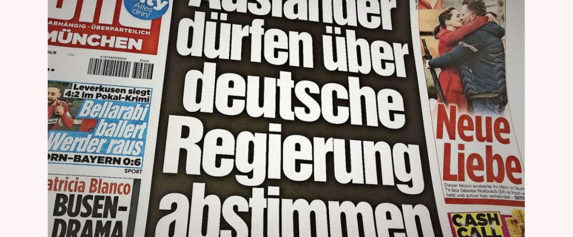 BILD-Schlagzeile - Sensationsjournalismus