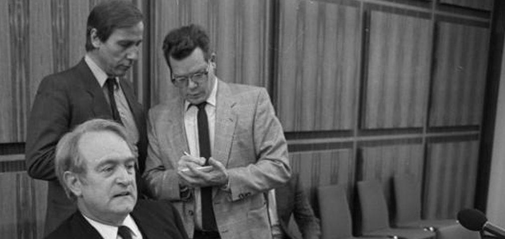Wolfgang Clement 1986 mit Johannes Rau