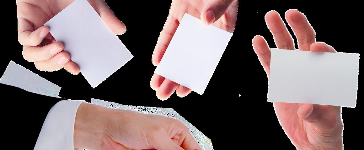 Hände und Karten
