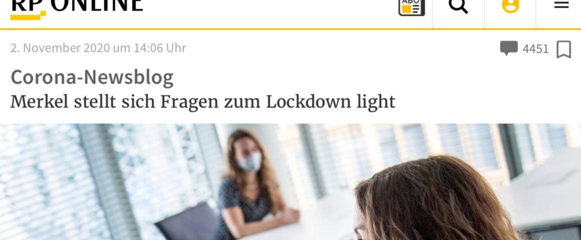 Screenshot Rheinische Post Online 2.11.2020