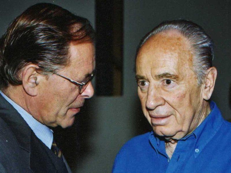 Rudolf Dressler und Shimon Peres