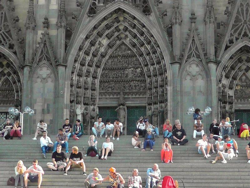 Köln, Domtreppe