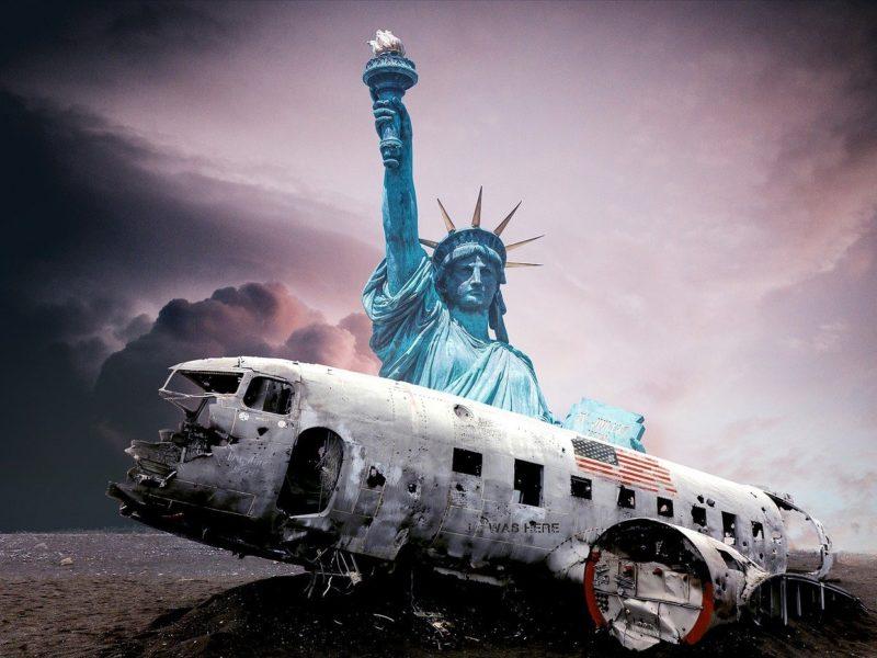 Absturz der USA - Symbolbild