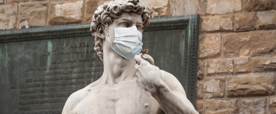 Statue des Davids auf der Piazza della Signoria in Florenz