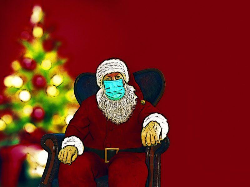 Santa Claus mit Maske