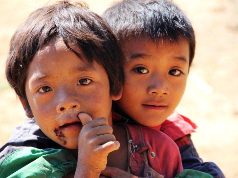 Flüchtlingkinder in Not
