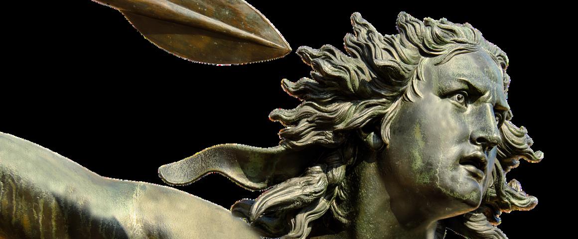 Skulptur Frau mit Speer