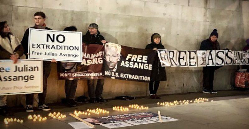 Unterstützer von Julian Assange