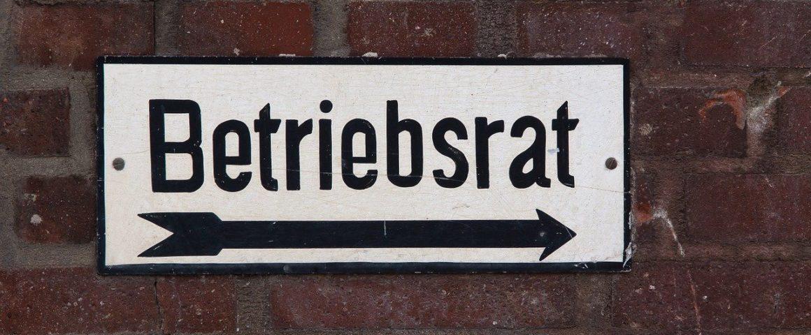 """Schild """"Betriebsrat"""""""