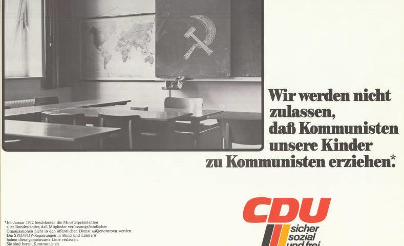 CDU-Wahlplakat für Radikalenerlass