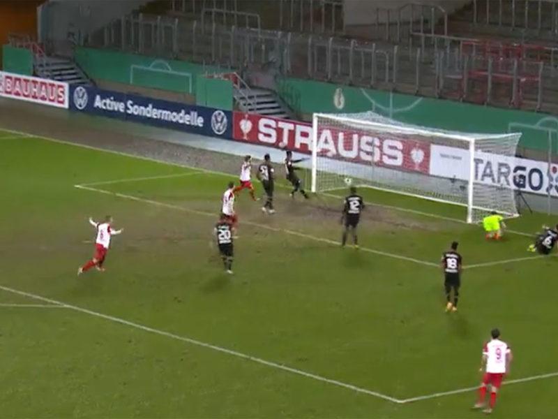 Rot-Weiss Esssen gegen Bayer Leverkusen Pokalspiel 2.2.2021