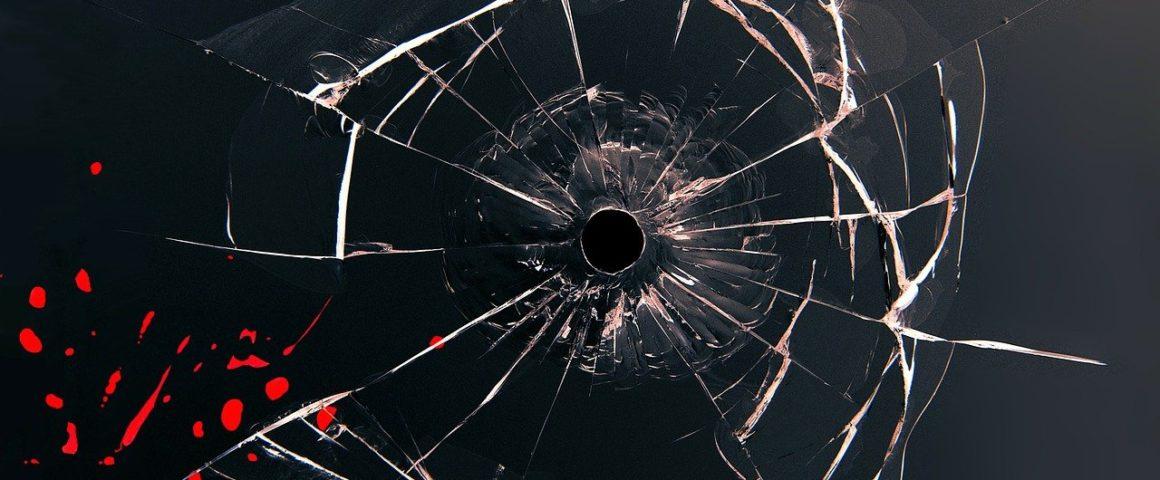 Durchschossenes Glas