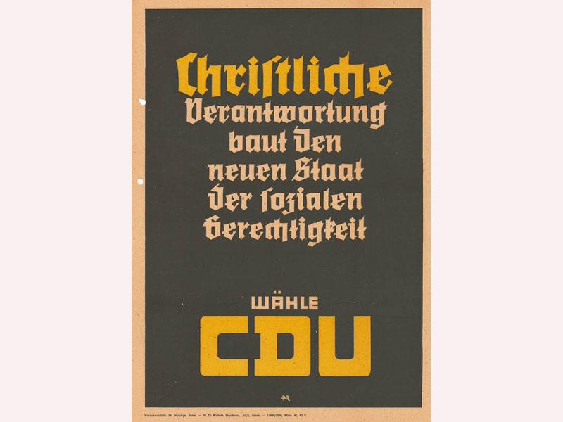 Wahlplakat CDU - für soziale Gerechtigkeit