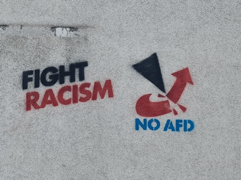 "Graffiti ""fight Racism"""