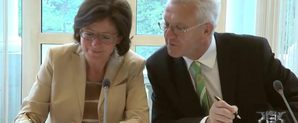 Ministerpräsidenten Dreyer und Kretschmann