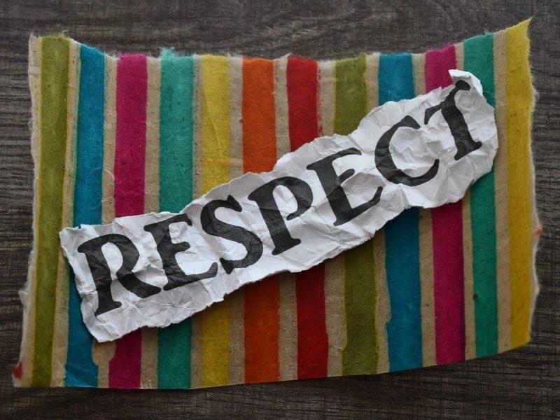 Schriftzug Respekt
