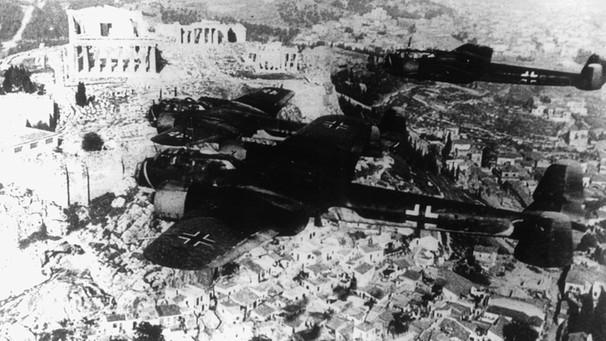 Deutsche Bomber über Griechenland 1941