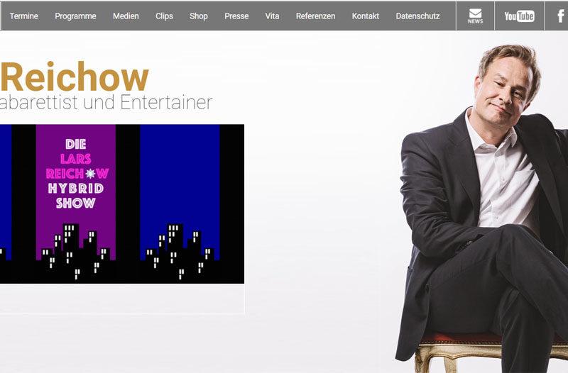 Screenshot Website Lars Reichow