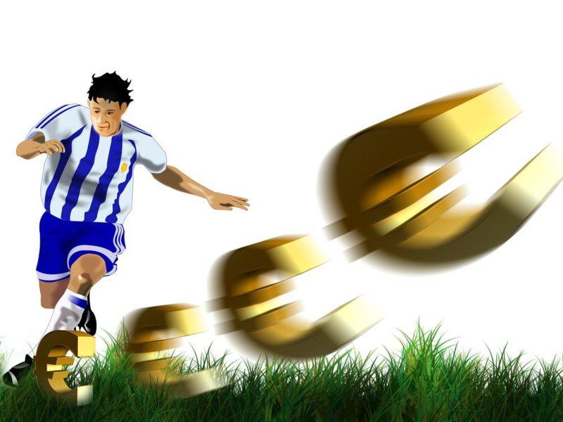 Fußball und Geld - Symbolbild