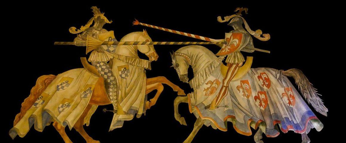 Mittelalterlicher Tunierkampf