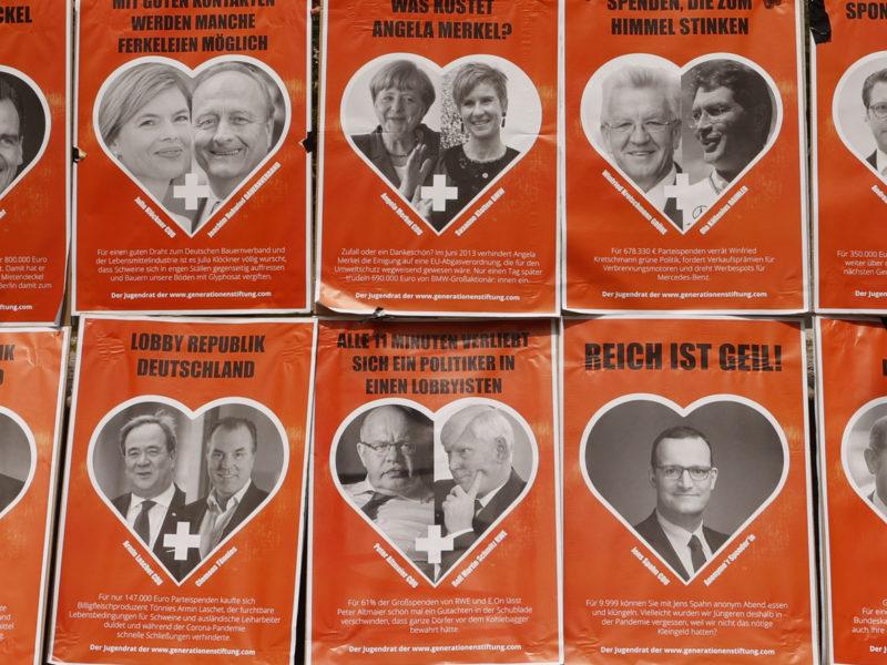Protestplakate der Generationen Stiftung