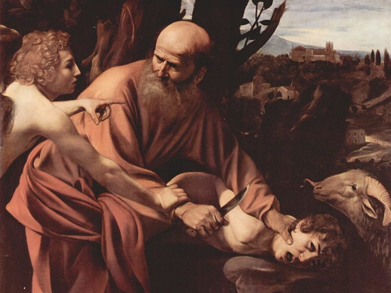 Opferung des Isaak, Michelangelo Merisi da Caravaggio