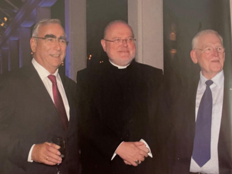 Kardinal Marx mit Friedhelm Ost und Theo Waigel, 2014