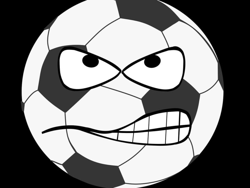 Böser Fußball-Smiley