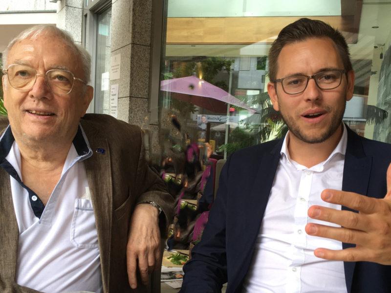 Christoph Jansen mit Jürgen Merschmeier