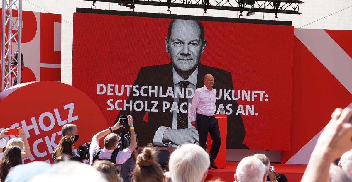 Dr. Ruer-Platz Bochum beim Wahlkampfauftakt der heißen Phase am 14.8.2021