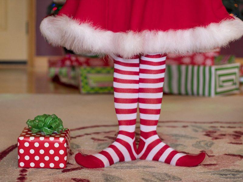 Rote Weihnachtssocken