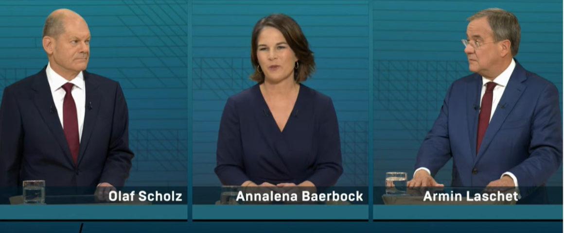 Screenshot TV-Triell 12.9.2021