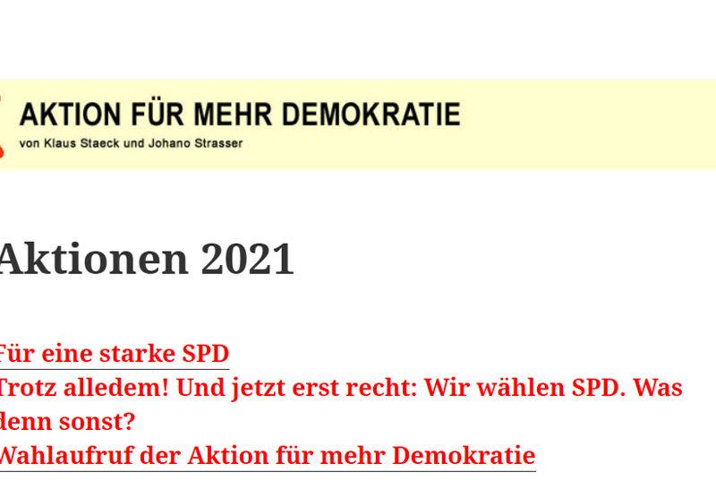 """Wählerinitiative Aktion """"Für mehr Demokratie"""""""